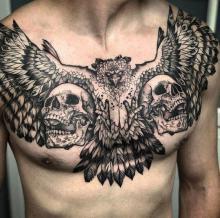 Tatuaże męskie na klatce piersiowej