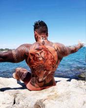 Tatuaże męskie tygrys