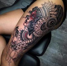 Udo tatuaż damski wzór