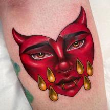 Diabełek tatuaż