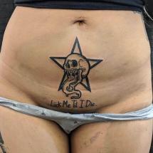 Miejsce intymne tatuaż damski