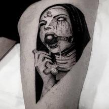 Siostra zakonna tatuaż