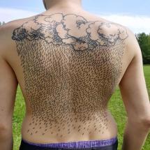 Tatuaż deszcz