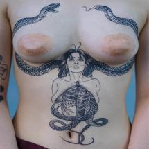 Tatuaż kobieta i wąż