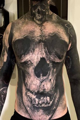 Czaszki tatuaż męski