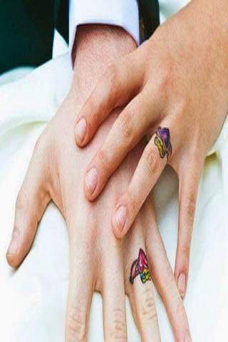 Dla niej i niego na palcach tatuaż