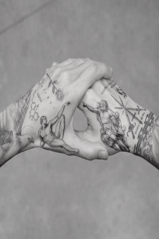 Dłonie tatuaż dla dwojga