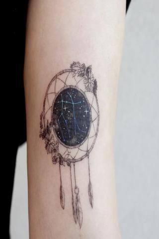 Łapacz snów tatuaż wzór