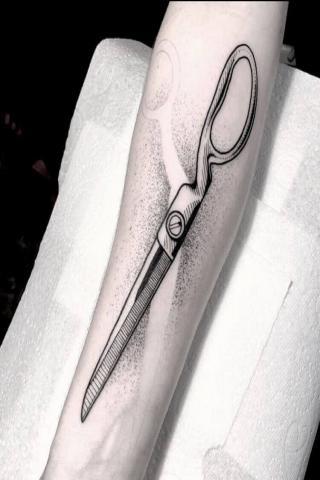 Nożyczki tatuaż