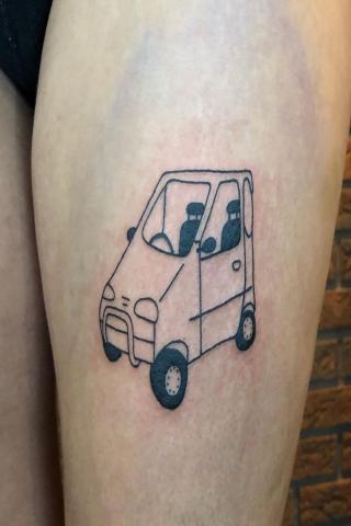 Samochodzik tatuaż