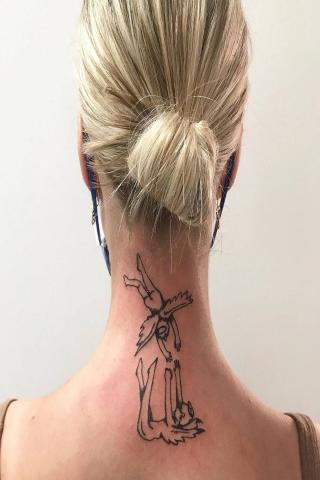 Tatuaż anioły na plecach