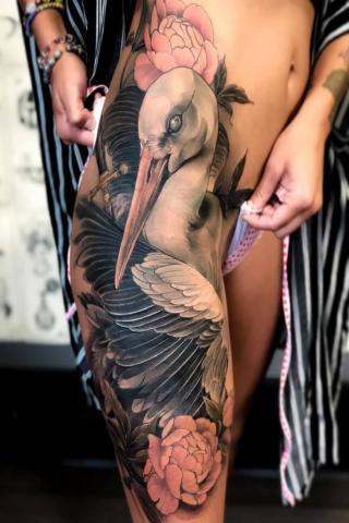 Tatuaż bocian
