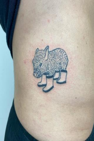 Tatuaż dzik