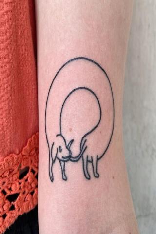 Tatuaż jamnik