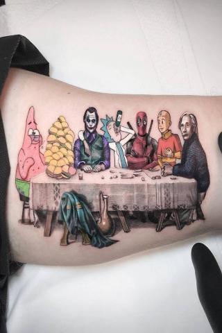 Tatuaż kolacja