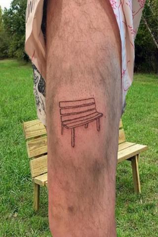 Tatuaż ławeczka