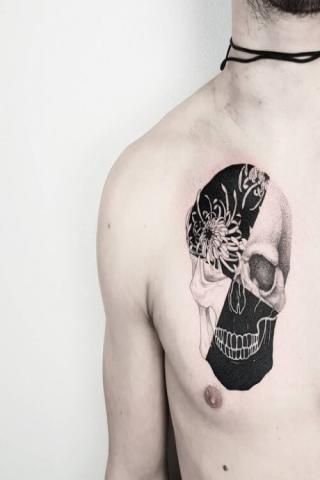 Tatuaż motyw czaszki