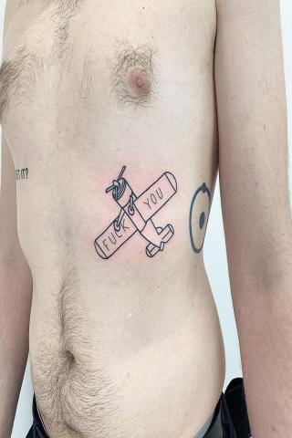 Tatuaż samolot