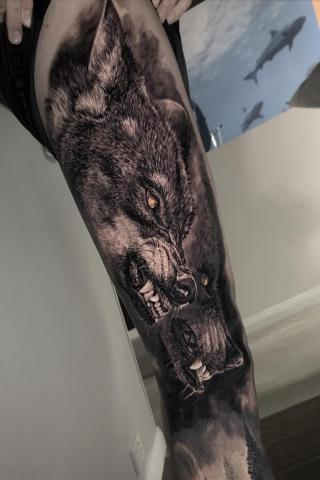 Tatuaż wilki