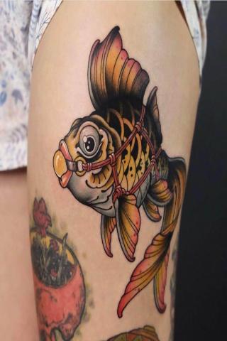 Tatuaże damskie rybka