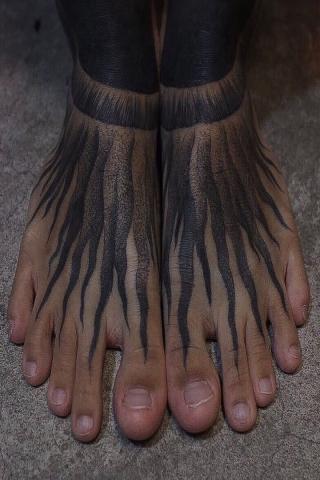 Tatuaże na stopach i nogach