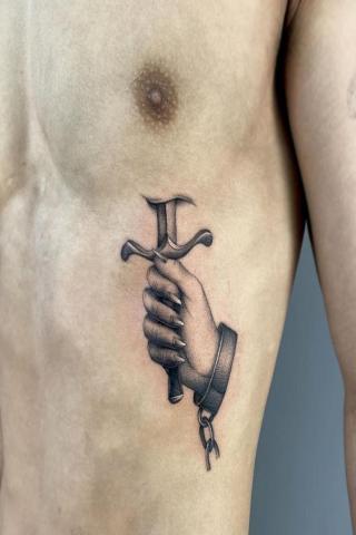 W samo serce tatuaż
