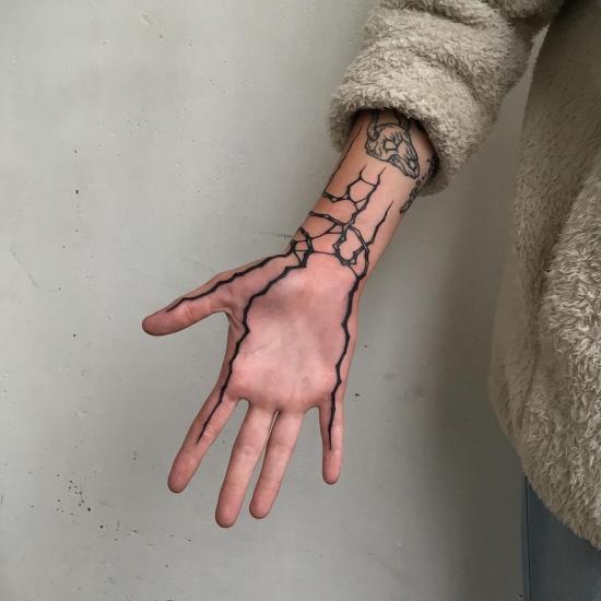 Dłoń tatuaże
