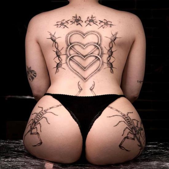 Serduszka tatuaż