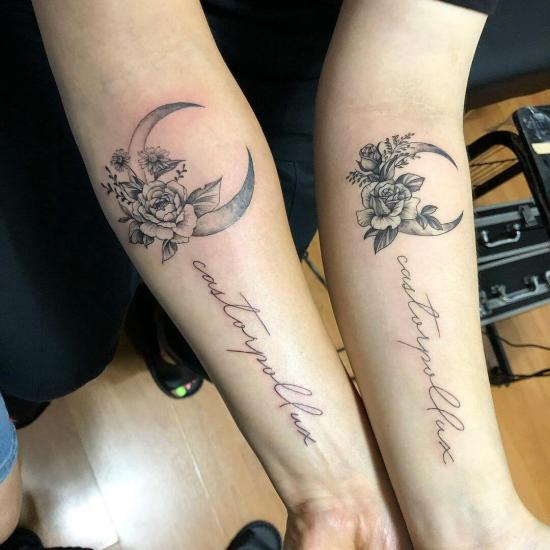 Tatuaże dla par na przedramieniu