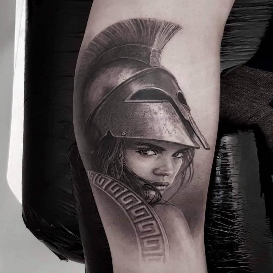 Wojowniczka tatuaż