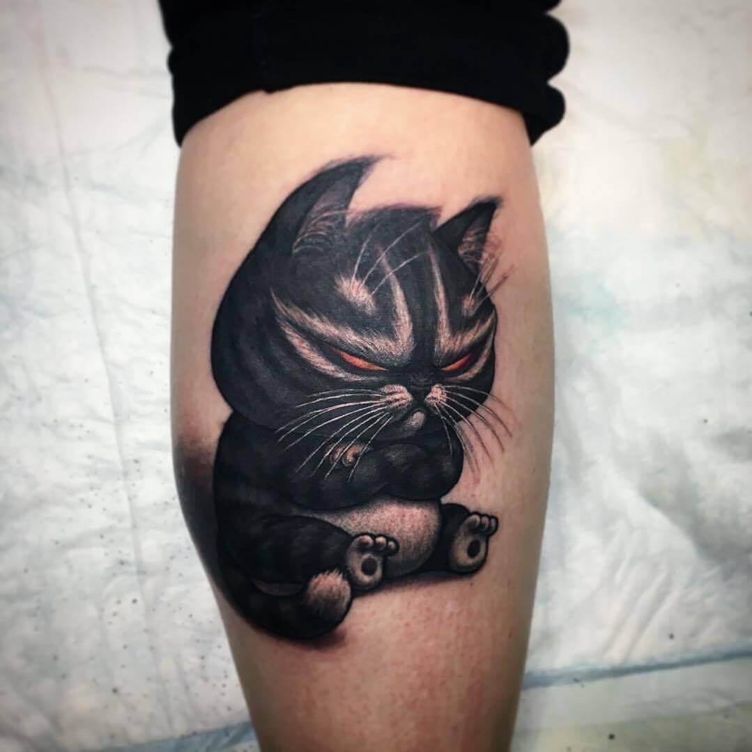 Koteczek tatuaż