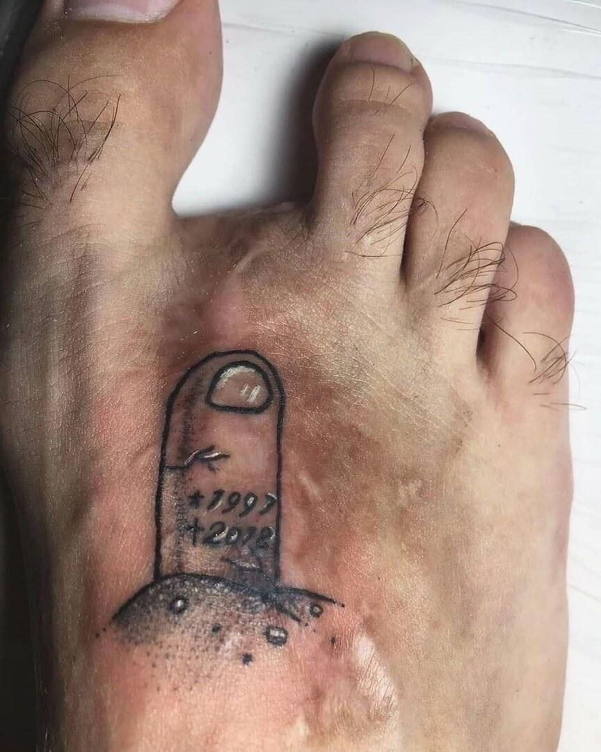 Tatuaż brak palca