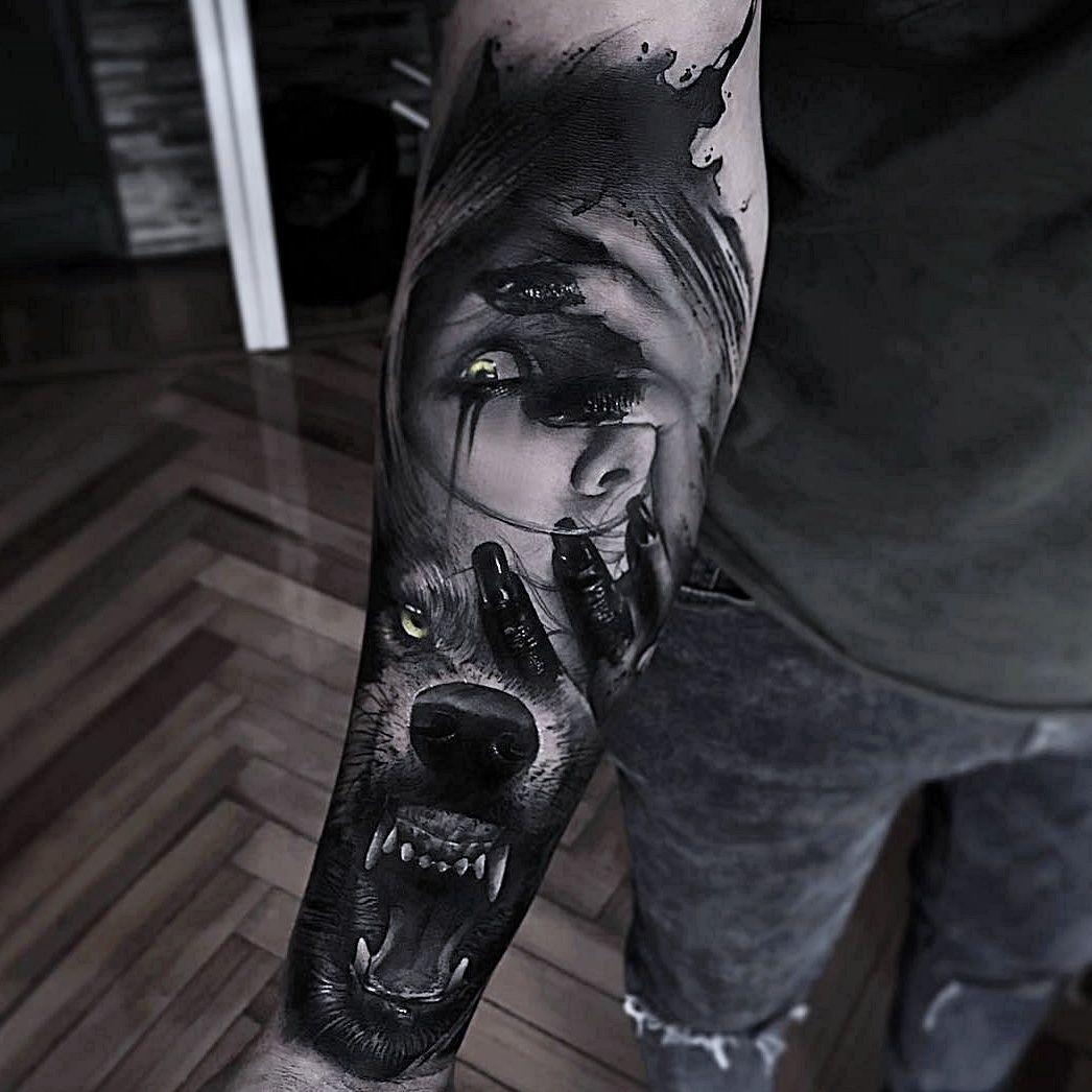 tatuaż na dłoni męski